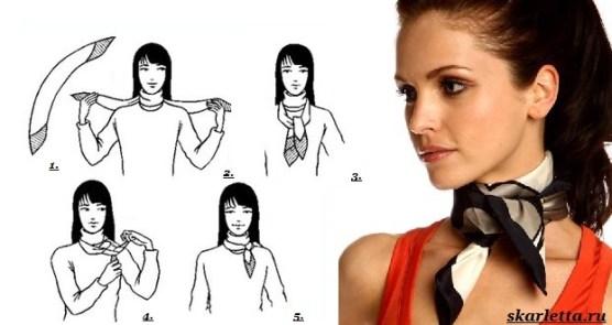 Как-завязать-платок-на-шее-2