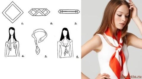 Как-завязать-платок-на-шее-6