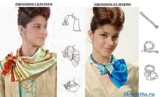 Как-завязать-платок-на-шее-20