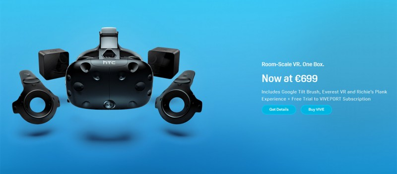 Vive virtual reality price cut €699