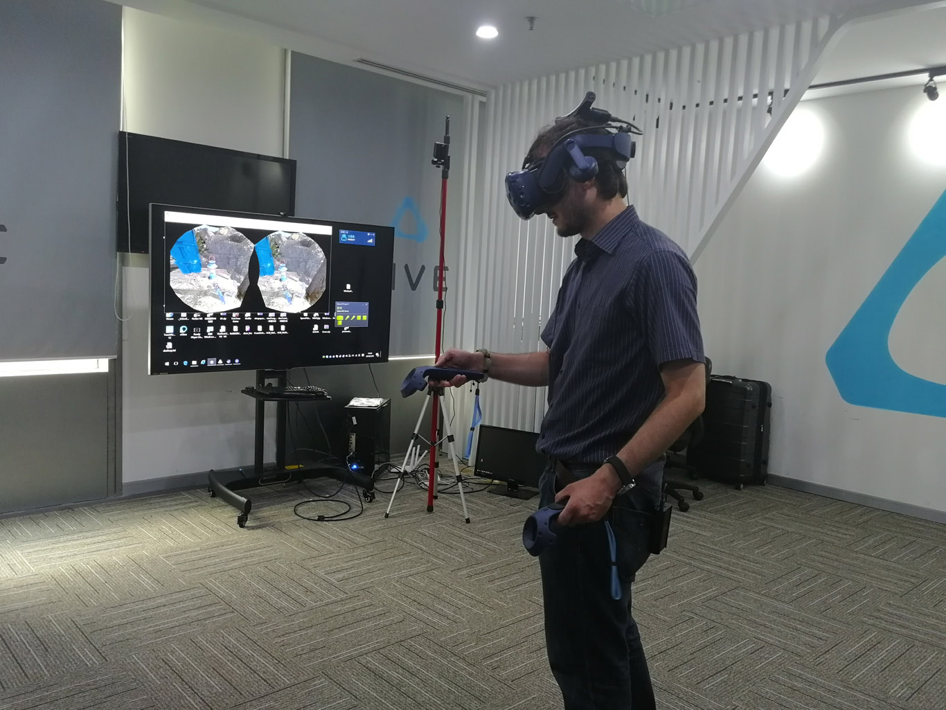 An amazing day at HTC Vive, trying SteamVR multiroom, Vive