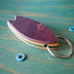 Skatan LLC - Surfboard Keychain Skateboarding Upcycling- Surfboard Keychain Skateboarding Upcycling