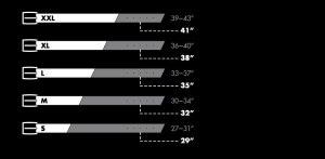 Armourdillo belt sizing chart