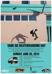 Go Skateboarding Day Melbourne Vans