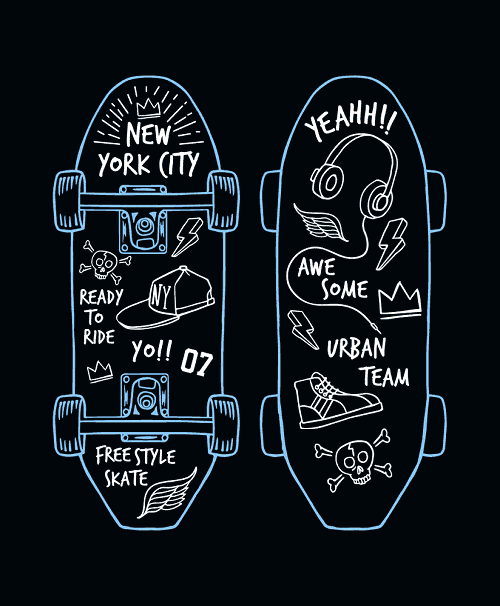how to draw a skate