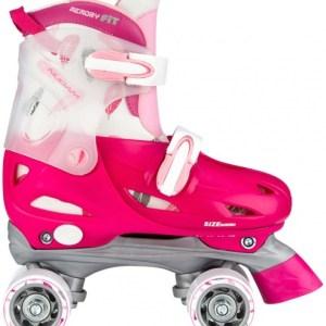 Nijdam junior rolschaatsen verstelbaar kleur roze