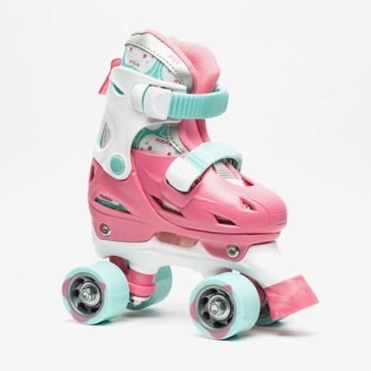 Nijdam junior kinder rolschaatsen licht roze