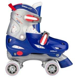 Nijdam junior verstelbare rolschaatsen blauw