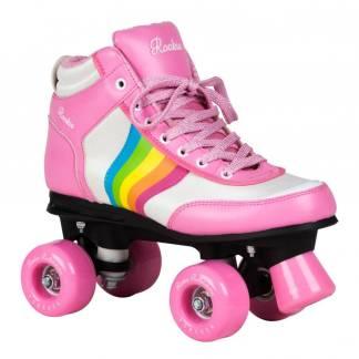 Rookie rainbow forever roze kinder rolschaatsen