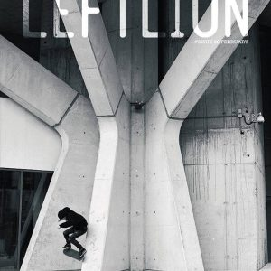 Callum Thompson performs a wallie on the cover of Leftlion magazine, photo by Tom Quigley