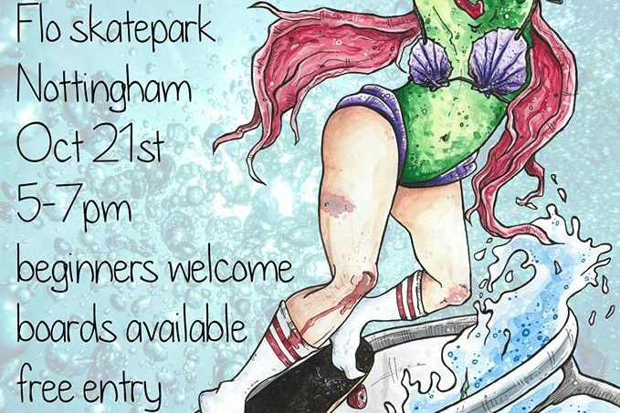 2nd Women and Girls Session at Flo Skatepark on  the 21st of October