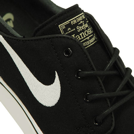 Nike Zoom Stefan Janoski Canvas Shoes Black Gum Light Brown Metallic Gold Star White In