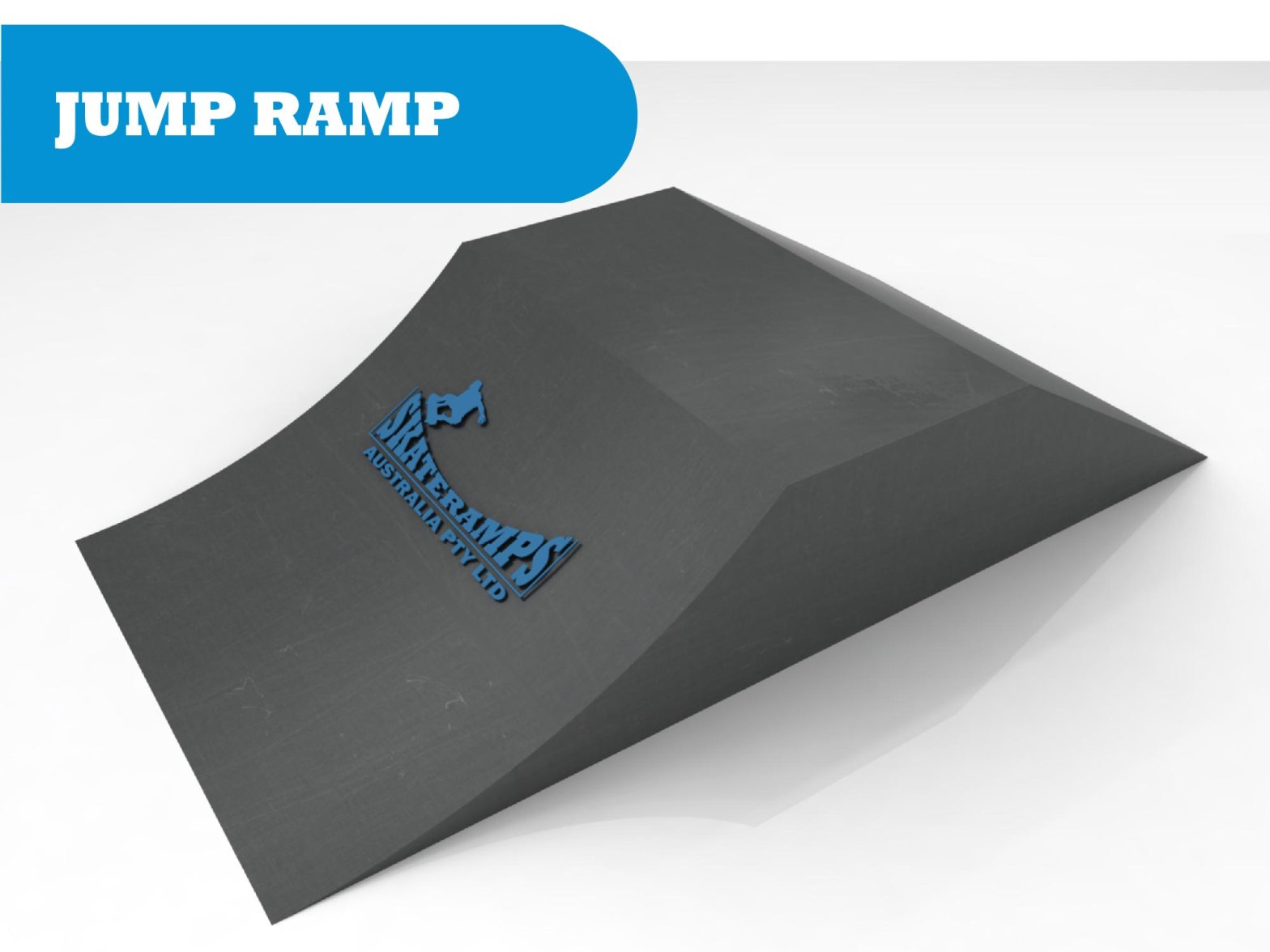 Jump ramp skate ramp module