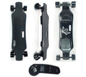 KYNG 38 Electric Skateboard Longboard with Wireless LCD Remote, Youth and Adults