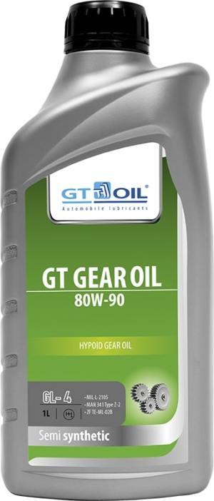 Масло трансмиссионное GT OIL GEAR 80W90 GL-4 1л