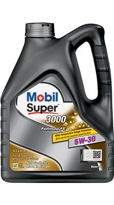 Масло моторное Mobil Super 3000×1 Formula FE 5W-30 A5/B5 SL синтетика 4л