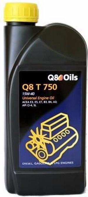 Масло дизельное Q8 T 750 15W-40 CI-4/SL А3/В3/B4/E3/E5/E7 1л