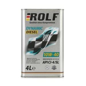 Масло дизельное ROLF Dynamic Diesel 10W-40 CI-4/SL полусинтетика 4л