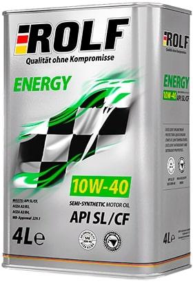 Масло моторное ROLF Energy 10W-40 SL/CF полусинтетика 4л по цене 3л АКЦИЯ
