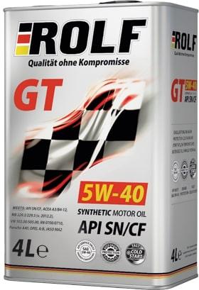 Масло моторное ROLF GT 5W-40 SN/CF синтетика 4 л