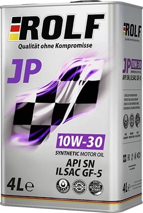 Масло моторное ROLF JP 10W-30 SN GF5 синтетика 4л