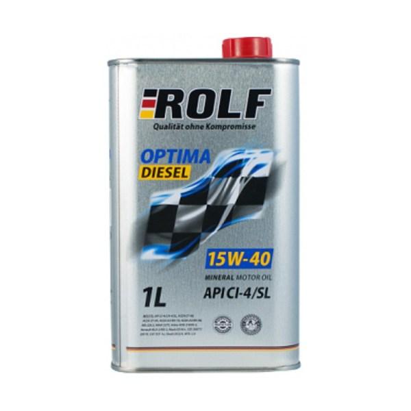 Масло дизельное ROLF Optima Diesel 15W-40 CI-4/SL 1л