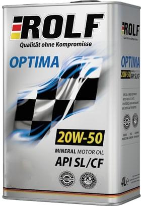 Масло моторное ROLF Optima 20W-50 SL/CF полусинтетика 1л