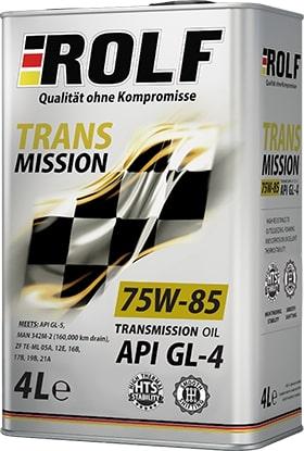 Масло трансмиссионное ROLF Transmission 75W-85GL-4 4л