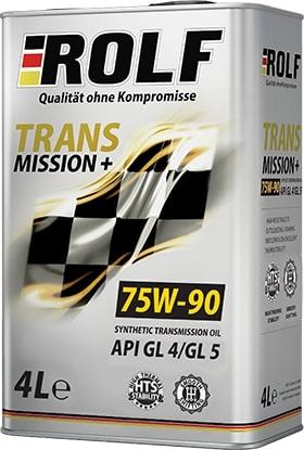 Масло трансмиссионное ROLF Transmission plus 75W-90 GL-4/5 4л
