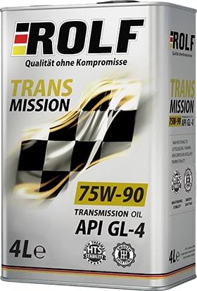 Масло трансмиссионное ROLF Transmission 75W-90 GL-4 4л