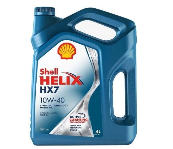 Масло моторное Shell Helix HX7 10W-40 SN/CF A3/B4 полусинтетика 4л