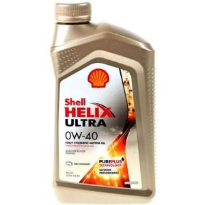 Масло моторное Shell Helix Ultra 0W-40 SN/CF A3/B4 синтетика, 1 литр