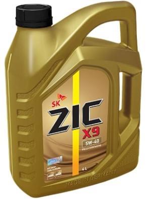 Масло моторное ZIC X9 5W-40 SN/CF A3/B4 синтетика 1л