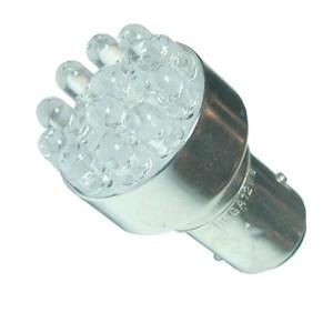 Автолампа светодиодная ДИАЛУЧ 92205 LED 12C 12V P21/5W 12V BAY15D, белая, конус, 12 диодов