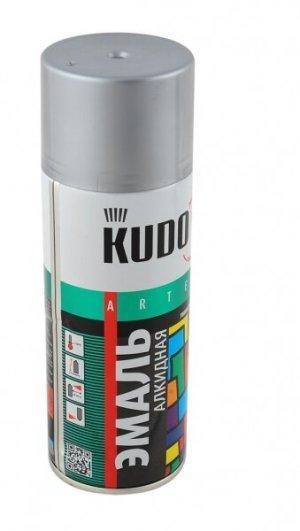 Эмаль KUDO KU-1026 серебро универсальная 520мл