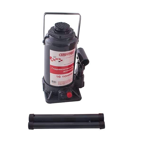 Домкрат бутылочный SKYWAY 16т h 225-425мм (с клапаном в коробке+сумка)