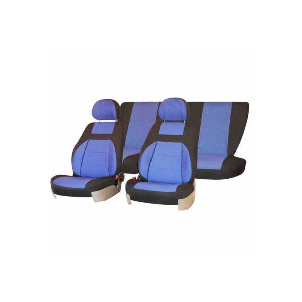 Чехлы сиденья жаккард SKYWAY LADA ВАЗ-2110 седан 1996-2007 синий 12 предметов