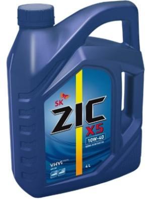 Масло дизельное ZIC Х5 10W-40 API SN полусинтетика 6л