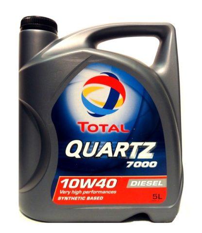 Масло моторное Total QUARTZ 7000 DIESEL 10W-40 SN/SF полусинтетика 5л
