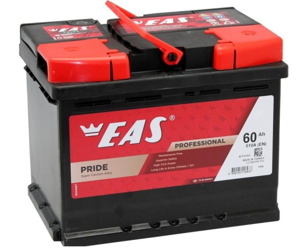 Аккумулятор автомобильный EAS PRIDE 60Ач 510А о/п
