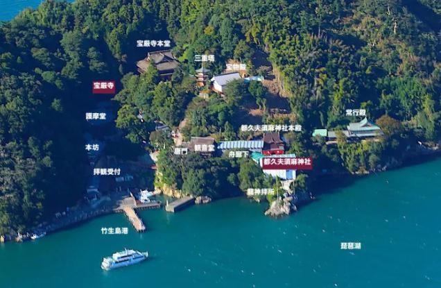竹生島と琵琶湖