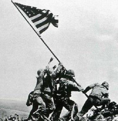 硫黄島の星条旗