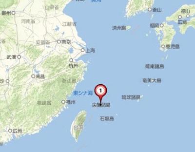 尖閣諸島周辺地図