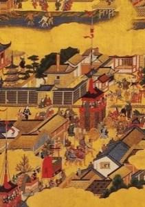 洛中洛外図屏風祇園祭