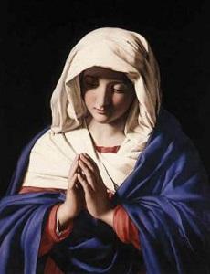 聖母マリア赤と青の衣