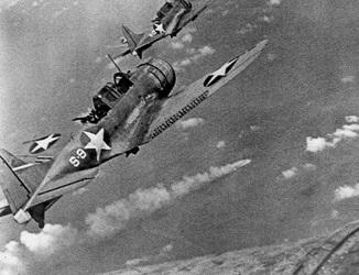 ミッドウェー海戦の米軍機