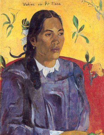 『ヴァヒネ・ノ・テ・ティアレ(花を持つ女)』1891年。