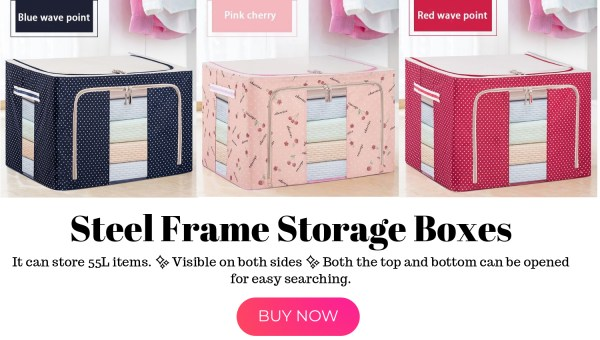 Steel Frame Storage Box