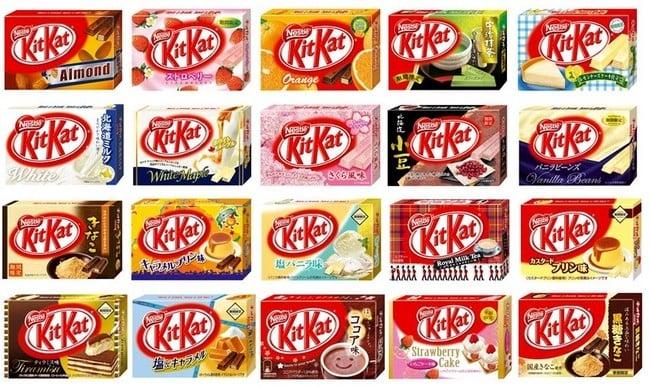 Lista de sabores de Kit Kat
