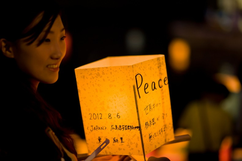 Hiroshima lanterna Cerimónia
